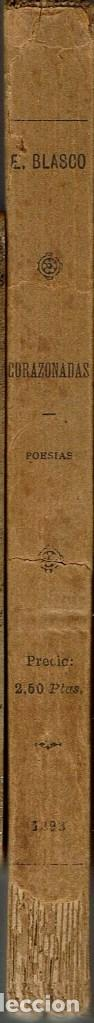 Libros antiguos: CORAZONADAS, POR EUSEBIO BLASCO. AÑO 1898 (13.1) - Foto 3 - 103105543