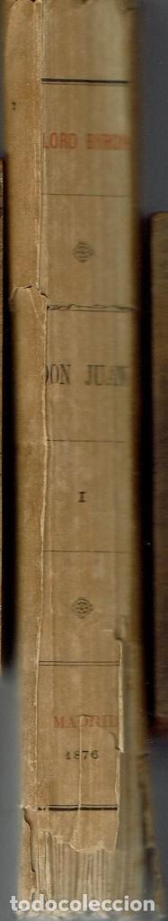 Libros antiguos: DON JUAN (POEMA), POR LORD BYRON. TOMOS I Y II. AÑO 1876. (14.1) - Foto 3 - 103130915