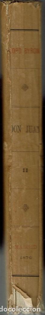 Libros antiguos: DON JUAN (POEMA), POR LORD BYRON. TOMOS I Y II. AÑO 1876. (14.1) - Foto 6 - 103130915