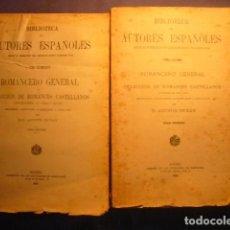 Libros antiguos: - ROMANCERO GENERAL O COLECCION ROMANCES CASTELLANOS ANTERIORES S. XVIII - (2 TOMOS) (MADRID,1924). Lote 103211971