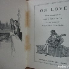 Libros antiguos: ON LOVE. THE WOODCUT LIBRARY OF ANTHOLOGIES. C. 1910.. Lote 103600367