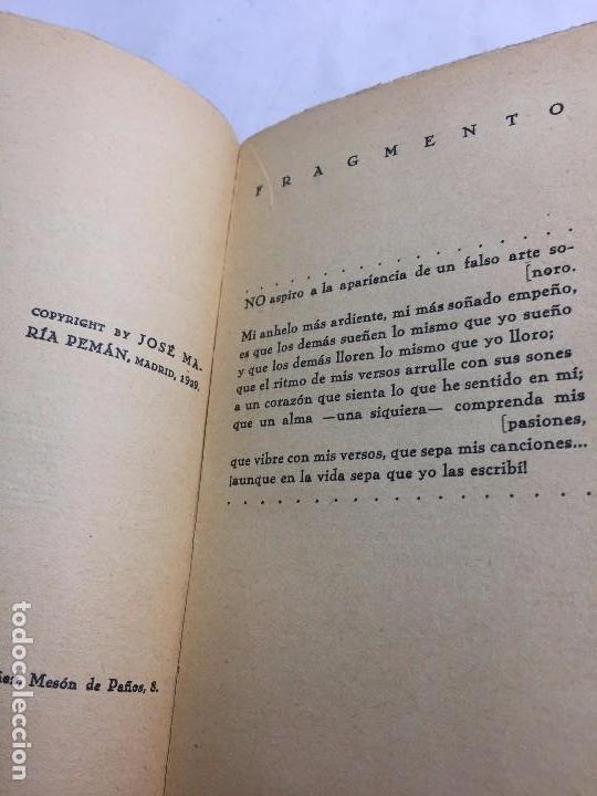 Libros antiguos: 1º edición José María Pemán A la rueda rueda Cancionero Mundo Latino Madrid 1929 - Foto 4 - 104064499