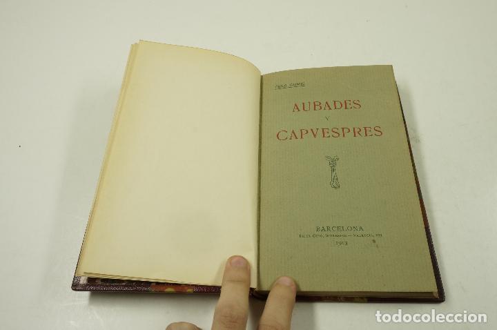 Libros antiguos: aubades y capvespres, 1913, cels gomis, barcelona. 11,5x18,5cm - Foto 2 - 104593455