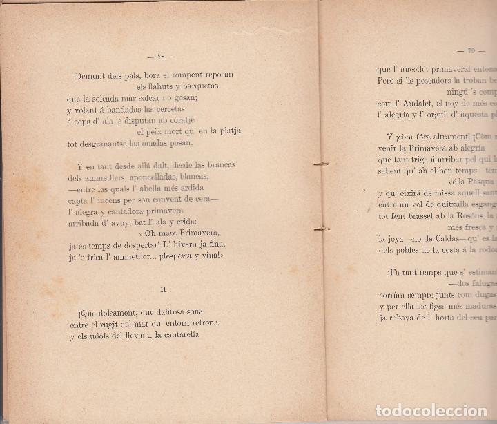 Libros antiguos: POEMAS DE MAR APELES MESTRES A.LÓPEZ BARCELONA 1901 - Foto 2 - 104666883