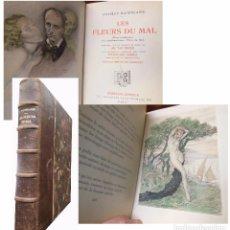 Libros antiguos: LES FLEURS DU MAL. BAUDELAIRE CHARLES. 1936. ED NUMERADA. EJEMPLAR 2947. Lote 105199027