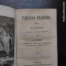 Libros antiguos: PARAISO PERDIDO, MILTON, 1844. Lote 105478039