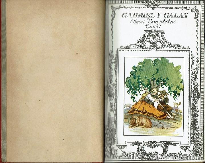 Libros antiguos: OBRAS COMPLETAS, POR JOSÉ MARÍA GABRIEL Y GALÁN. DOS TOMOS. AÑO 1924 (14.1) - Foto 4 - 106123443