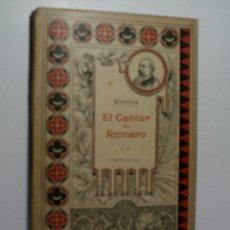 Libros antiguos: EL CANTAR DEL ROMERO. LEYENDA EN VERSO. ZORRILLA JOSÉ. 1886. Lote 106549311