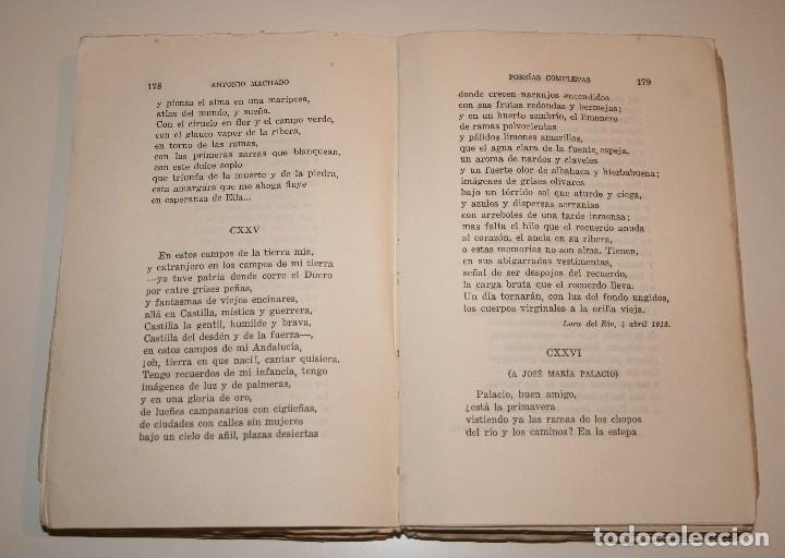 Libros antiguos: Poesías Completas de Antonio Machado - 7ª Edición, Espasa-Calpe, 1955 - Foto 4 - 106582731