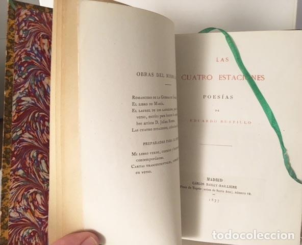 E. BUSTILLO : LAS CUATRO ESTACIONES. (1ª ED. 1877. HOLANDESA, NERVIOS Y TEJUELO (Libros antiguos (hasta 1936), raros y curiosos - Literatura - Poesía)