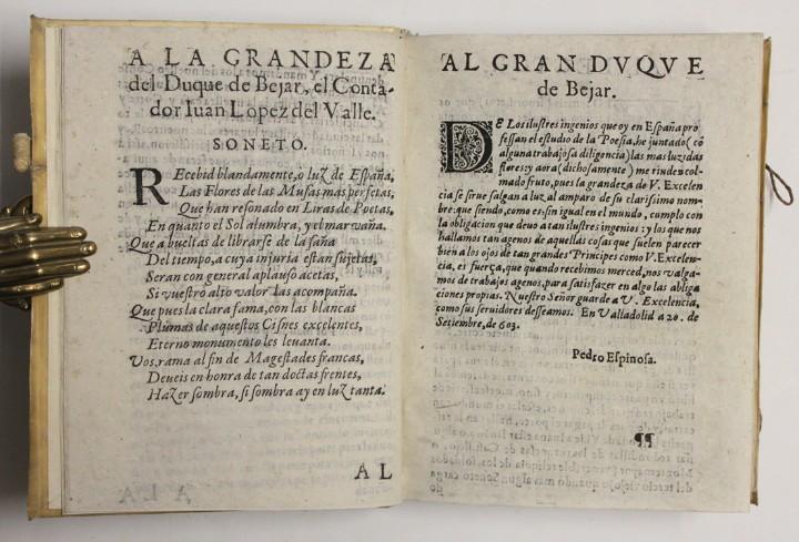 Libros antiguos: PRIMERA PARTE DE LAS FLORES DE POETAS ILUSTRES DE ESPAÑA, dividida en dos libros. Ordenada por... Di - Foto 4 - 109021994