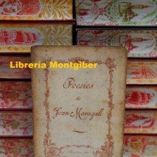 Libros antiguos: POESIES . AUTOR : MARAGALL, JOAN . Lote 109851067