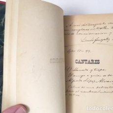 Libros antiguos: GÓNZALEZ LÓPEZ : CANTARES. DIBUJOS DE JULIO GROS. (1893. HOLANDESA ÉPOCA) . Lote 110003947