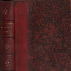 Libros antiguos: LE RIME - FRANCESCO PETRARCA / MUNDI-2993. Lote 110191327