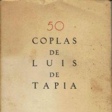 Old books - 50 COPLAS DE LUÍS DE TAPIA. AÑO 1932. (13.2) - 110546667