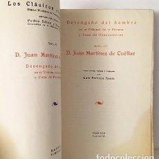 Libros antiguos: MARTÍNEZ DE CUÉLLAR : DESENGAÑO DEL HOMBRE EN EL TRIBUNAL DE LA FORTUNA Y CASA DE DESCONTENTOS. Lote 110647015