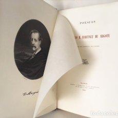 Libros antiguos: MARTINEZ DE ARGOTE (MARQUÉS DE CABRIÑANA : POESÍAS (M., 1866. CON GRABADO AL ACERO. Lote 110687947