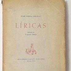Libros antiguos: NIERGA GALLEGO : LÍRICAS. (1ª ED. 1948. FIGUERAS. PRÓLOGO DE GARRIDO PALLARDÓ. . Lote 110724295