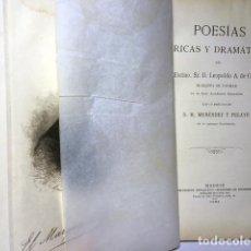Libros antiguos: MARQUÉS DE VALMAR (LEOPOLDO A. DE CUETO) : POESÍAS LÍRICAS Y DRAMÁTICAS. (M. 1903) . Lote 110740323