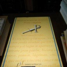 Libros antiguos: POESIA COMPLETA. Lote 111361315