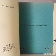 Libros antiguos: GALLO. REVISTA DE GRANADA, 1 Y 2. JUNTO CON Nº 1 DE PAVO (FACS DE 1928... LETERADURA. Lote 111504403