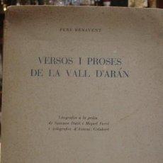 Libros antiguos: VERSOS I PROSES DE LA VALL D'ARÁN - PORTAL DEL COL·LECCIONISTA *****. Lote 111572243