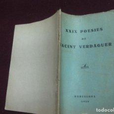 Libros antiguos: XXIX POESIES DE JACINT VERDAGUER. BARCELONA 1928.. Lote 111595735