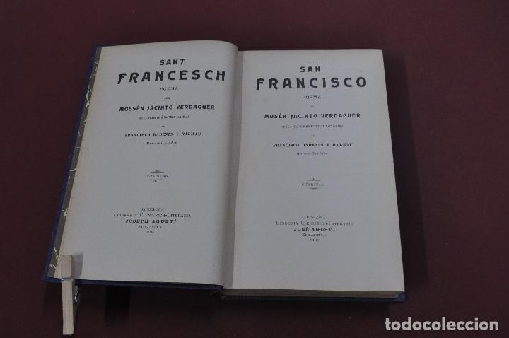 Libros antiguos: san francesch . san francisco - mossèn jacinto verdaguer - 1909 - idioma català castellano - PSB - Foto 2 - 112060943