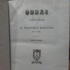 Libros antiguos: OBRAS LITERARIAS DE DON FRANCISCO MARTÍNEZ DE LA ROSA, TOMO I , POÉTICA, LONDRES,SAMUEL BAGSTER 1838. Lote 112441819