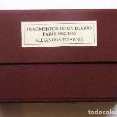 Libros antiguos: ALEJANDRA PIZARNIK EDICIÓN FACSIMILAR DEL DIARIO DE PARÍS 1962-1963. Lote 278883163