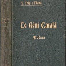 Libros antiguos: J. FALP Y PLANA : LO GÈNI CATALÁ (TASIS, 1906) . Lote 114499315