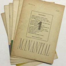 Libros antiguos: MANANTIAL. CUADERNOS DE POESÍA Y CRÍTICA. - [REVISTA.]. Lote 114799672