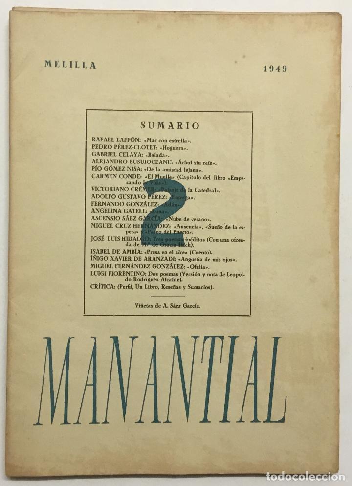 Libros antiguos: MANANTIAL. Cuadernos de poesía y crítica. - [Revista.] - Foto 5 - 114799672