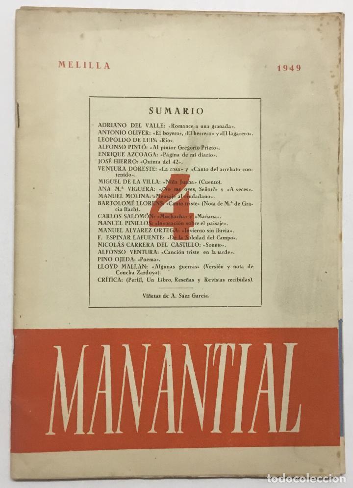 Libros antiguos: MANANTIAL. Cuadernos de poesía y crítica. - [Revista.] - Foto 7 - 114799672