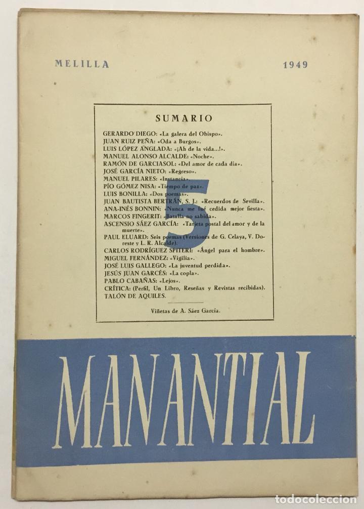 Libros antiguos: MANANTIAL. Cuadernos de poesía y crítica. - [Revista.] - Foto 8 - 114799672