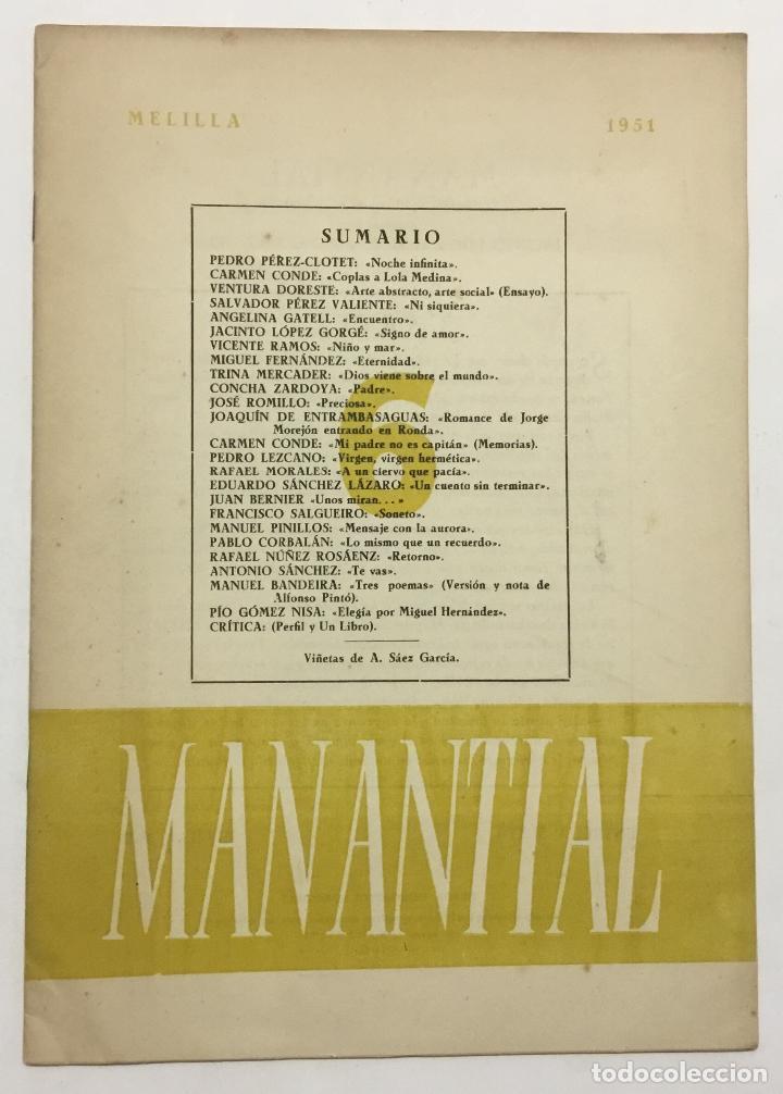 Libros antiguos: MANANTIAL. Cuadernos de poesía y crítica. - [Revista.] - Foto 9 - 114799672