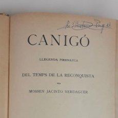 Libros antiguos: CANIGÓ. J. VERDAGUER. BIBLIOTECA DE CATALUÑA ARTÍSTICA. BARCELONA. 1901.. Lote 114979463