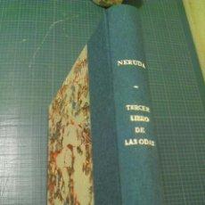 Libros antiguos: TERCER LIBRO DE LAS ODAS - PABLO NERUDA - BUENOS AIRES 1917. Lote 115691355