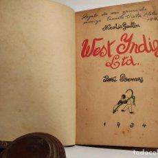 Libros antiguos: NICOLÁS GUILLÉN WEST INDIES LTD. POEMAS. 1* EDICIÓN 1934. Lote 116874891