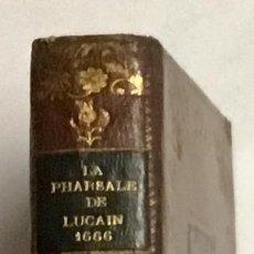 Libros antiguos: LA PHARSALE DE LUCAIN, OU LES GUERRES CIVILES DE CESAR ET DE POMPE'E, EN VERS FRANÇOIS. - BRÉBEUF, G. Lote 114798047