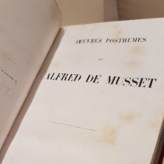 Libros antiguos: MUSSET (ALFRED DE) - MUSSET (ALFRED DE). OEUVRES POSTHUMES DE.... Lote 117198330