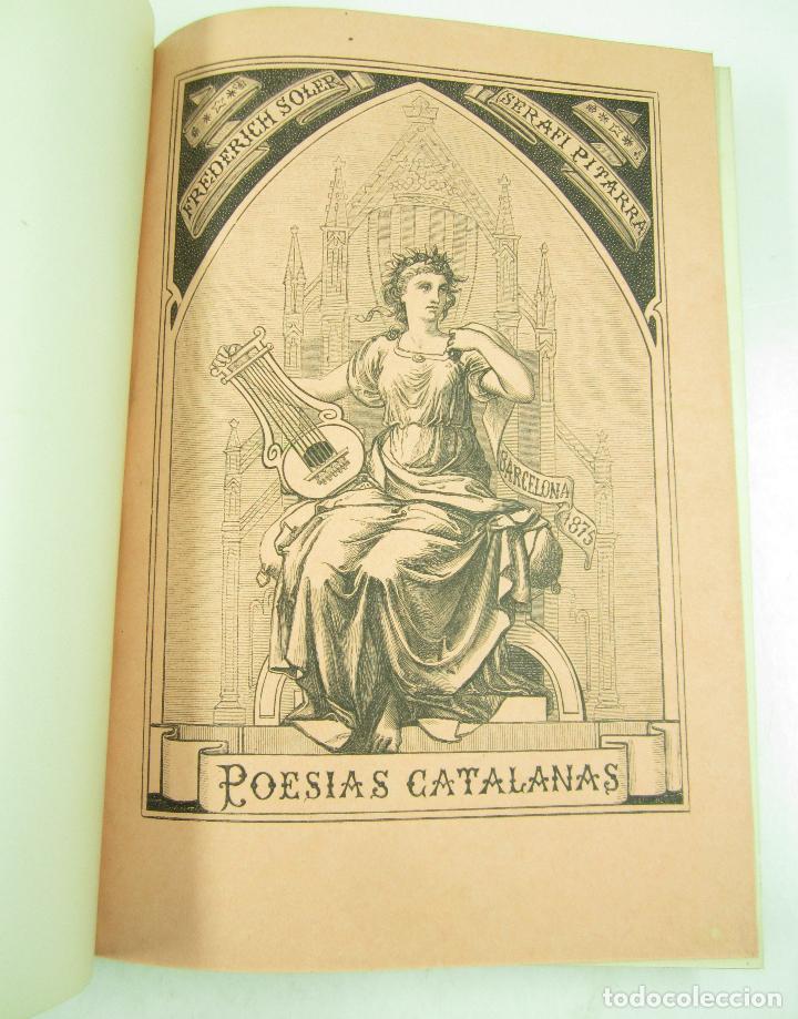 Libros antiguos: Poesias catalanas de Frederich Soler (Serafí Pitarra), ilustradas, 1875, Barcelona. 21x28,5cm - Foto 3 - 117721979