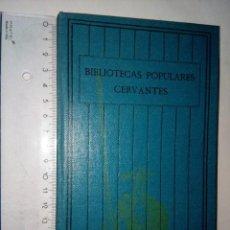 Libros antiguos: POESÍAS DE GÓNGORA, BIBLIOTECAS POPULARES CERVANTES, LAS CIEN MEJORES OBRAS..., AÑOS 30, VOL. 6. Lote 118015747