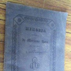 Libros antiguos: MEMORIA POÉTICA DE MARIANO ROCA - DE TOGORES A SUS AMIGOS - MADRID 1831. Lote 118205075