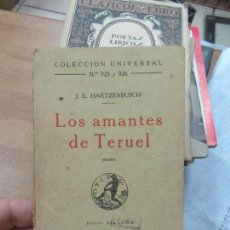 Libri antichi: LIBRO LOS AMANTES DE TERUEL J.E. HARTZENBUSCH 1924 L-17700. Lote 119701347