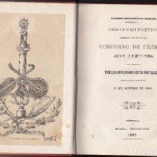 Libros antiguos: ACADEMIA BIBLIOGRÁFICO-MARIANA. CERTAMEN POÉTICO. LÉRIDA 1865. Lote 121246343