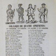Libros antiguos: COL·LOQUI DE QUATRE APRENENTS: UN TEIXIDOR, UN FORNER, UN SASTRE Y UN SABATER.. Lote 123141474
