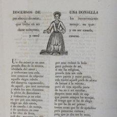 Libros antiguos: DISCURSOS DE UNA DONSELLA PER ELECCIÓ DE ESTAT; LOS INCONVENIENTS QUE TROBA EN SER MONJA, EN.... Lote 123142779