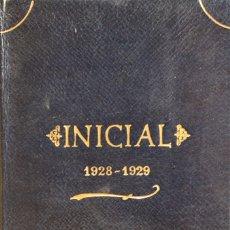 Libros antiguos: INICIAL (1928-1929). - LUELMO, JOSÉ MARÍA. VALLADOLID, 1929. DEDICATORIA AUTÓGRAFA.. Lote 123210827