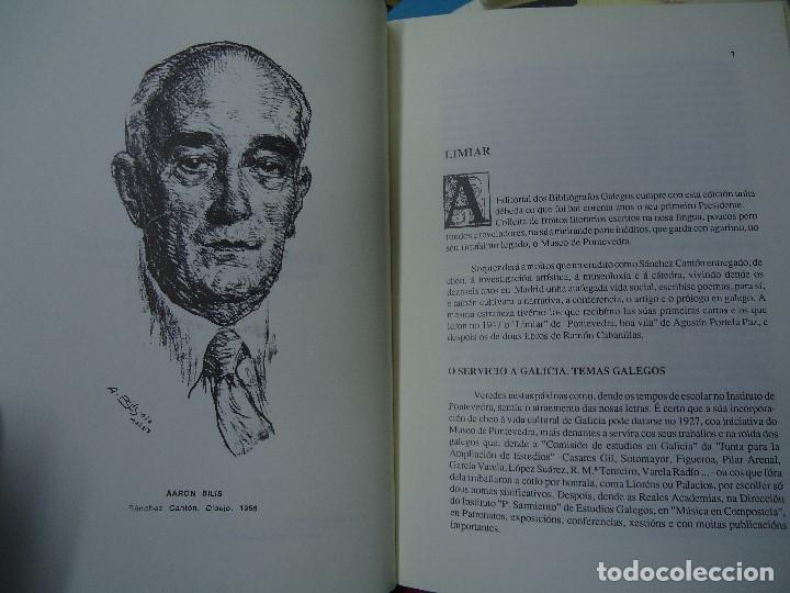 Libros antiguos: OBRA EN GALEGO DE FRANCISCO XAVIER SÁNCHEZ CANTÓN 1991 INTRO. FILGUEIRA VALVERDE - Foto 4 - 123700731